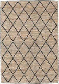 Serena Jute - Natural/Musta Matto 160X230 Moderni Käsinkudottu Vaaleanharmaa/Vaaleanruskea ( Intia)