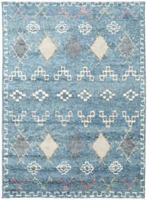 Zaurac - Sininen Harmaa Matto 170X240 Moderni Käsinsolmittu Vaaleansininen/Beige (Villa, Intia)