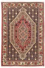 Senneh Matto 73X105 Itämainen Käsinsolmittu Tummanruskea/Vaaleanruskea (Villa, Persia/Iran)
