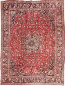 Mashad Matto 285X375 Itämainen Käsinsolmittu Tummanpunainen/Vaaleanpunainen Isot (Villa, Persia/Iran)