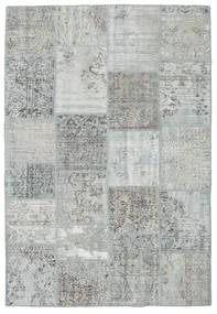Patchwork Matto 160X232 Moderni Käsinsolmittu Vaaleanharmaa/Vaaleanvihreä (Villa, Turkki)