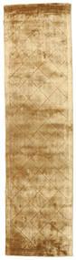 Brooklyn - Kulta Matto 80X300 Moderni Käytävämatto Vaaleanruskea/Tummanbeige ( Intia)