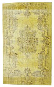 Colored Vintage Matto 165X276 Moderni Käsinsolmittu Keltainen/Oliivinvihreä (Villa, Turkki)