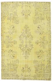 Colored Vintage Matto 187X295 Moderni Käsinsolmittu Keltainen/Vaaleanvihreä (Villa, Turkki)