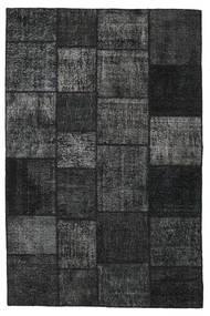 Patchwork Matto 198X302 Moderni Käsinsolmittu Musta/Tummanharmaa (Villa, Turkki)