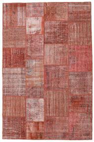 Patchwork Matto 197X300 Moderni Käsinsolmittu Tummanpunainen/Ruskea (Villa, Turkki)