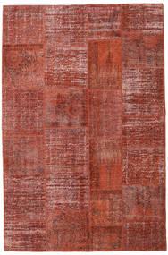 Patchwork Matto 196X301 Moderni Käsinsolmittu Tummanpunainen/Ruoste (Villa, Turkki)