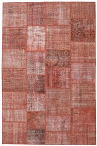 Patchwork Matto 198X302 Moderni Käsinsolmittu Tummanpunainen/Ruskea (Villa, Turkki)