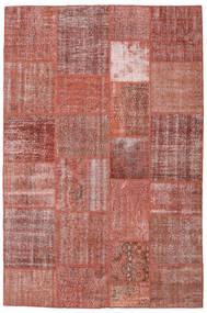 Patchwork Matto 198X301 Moderni Käsinsolmittu Ruskea/Tummanpunainen (Villa, Turkki)