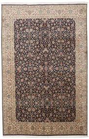 Kashmir 100% Silkki Matto 164X252 Itämainen Käsinsolmittu Vaaleanharmaa/Vaaleanruskea (Silkki, Intia)