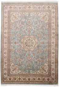 Kashmir 100% Silkki Matto 174X250 Itämainen Käsinsolmittu Vaaleanharmaa/Ruskea (Silkki, Intia)