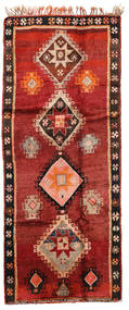 Herki Vintage Matto 166X403 Itämainen Käsinsolmittu Käytävämatto Tummanpunainen/Ruoste/Tummanruskea (Villa, Turkki)