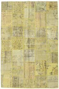 Patchwork Matto 198X298 Moderni Käsinsolmittu Vaaleanvihreä/Keltainen (Villa, Turkki)