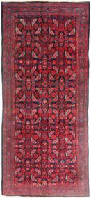 Hamadan Matto 137X320 Itämainen Käsinsolmittu Käytävämatto Tummanpunainen/Punainen (Villa, Persia/Iran)