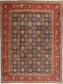 Tabriz Patina Matto 293X400 Itämainen Käsinsolmittu Tummanruskea/Ruskea Isot (Villa, Persia/Iran)