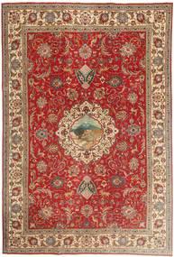 Tabriz Patina Matto 243X355 Itämainen Käsinsolmittu Tummanpunainen/Vaaleanruskea (Villa, Persia/Iran)