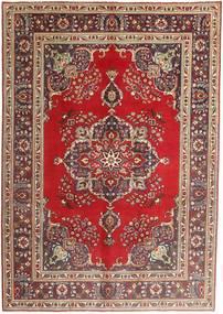 Tabriz Matto 207X290 Itämainen Käsinsolmittu Tummanpunainen/Tummanruskea (Villa, Persia/Iran)