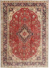 Tabriz Matto 200X282 Itämainen Käsinsolmittu Tummanruskea/Tummanpunainen (Villa, Persia/Iran)