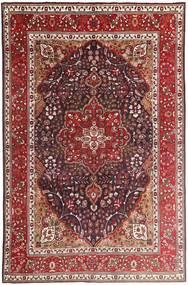 Tabriz Matto 207X315 Itämainen Käsinsolmittu Tummanpunainen/Tummanruskea (Villa, Persia/Iran)