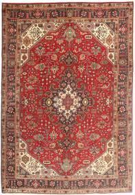 Tabriz Matto 200X294 Itämainen Käsinsolmittu Tummanpunainen/Ruskea (Villa, Persia/Iran)