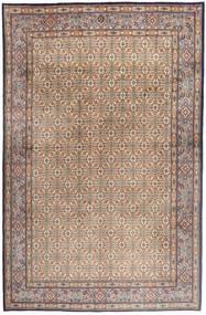 Moud Matto 181X279 Itämainen Käsinsolmittu Vaaleanharmaa/Vaaleanruskea/Ruskea (Villa/Silkki, Persia/Iran)