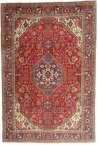 Tabriz Matto 198X300 Itämainen Käsinsolmittu Tummanruskea/Ruskea (Villa, Persia/Iran)