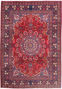 Moud Matto 210X303 Itämainen Käsinsolmittu Punainen/Tummanpunainen (Villa/Silkki, Persia/Iran)