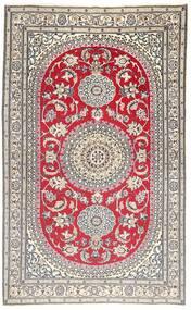 Nain 9La Matto 157X257 Itämainen Käsinsolmittu Vaaleanharmaa/Ruskea (Villa/Silkki, Persia/Iran)