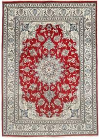 Nain Matto 150X207 Itämainen Käsinsolmittu Vaaleanharmaa/Tummanpunainen (Villa, Persia/Iran)