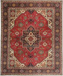 Tabriz Patina Matto 328X395 Itämainen Käsinsolmittu Tummanruskea/Vaaleanruskea Isot (Villa, Persia/Iran)