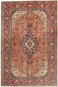 Tabriz Patina Matto 202X308 Itämainen Käsinsolmittu Ruskea/Tummanruskea (Villa, Persia/Iran)
