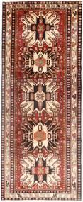 Hamadan Matto 128X330 Itämainen Käsinsolmittu Käytävämatto Tummanpunainen/Beige (Villa, Persia/Iran)