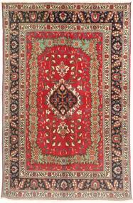 Tabriz Matto 143X223 Itämainen Käsinsolmittu Tummanruskea/Tummanpunainen (Villa, Persia/Iran)