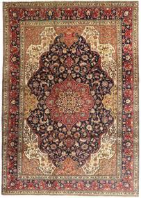 Tabriz Matto 247X345 Itämainen Käsinsolmittu Tummanruskea/Vaaleanruskea (Villa, Persia/Iran)