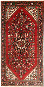 Hamadan Matto 160X323 Itämainen Käsinsolmittu Käytävämatto Tummanpunainen/Ruoste (Villa, Persia/Iran)