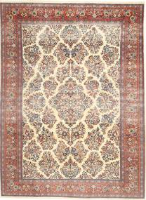 Sarough Patina Matto 200X280 Itämainen Käsinsolmittu Keltainen/Tummanruskea (Villa, Persia/Iran)