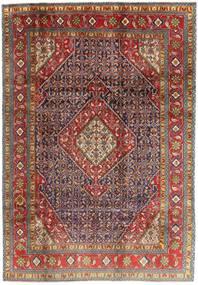 Ardebil Matto 203X293 Itämainen Käsinsolmittu Tummanpunainen/Tummanruskea (Villa, Persia/Iran)