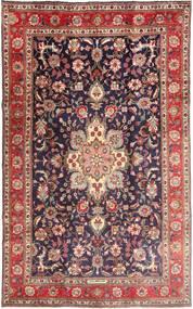 Tabriz Matto 190X315 Itämainen Käsinsolmittu Tummanpunainen/Tummanvioletti (Villa, Persia/Iran)