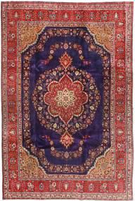 Tabriz Matto 240X358 Itämainen Käsinsolmittu Tummanpunainen/Tummanvioletti (Villa, Persia/Iran)