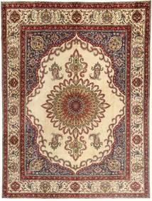 Tabriz Matto 310X400 Itämainen Käsinsolmittu Vaaleanruskea/Beige Isot (Villa, Persia/Iran)