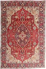 Tabriz Matto 194X300 Itämainen Käsinsolmittu Tummanpunainen/Ruoste (Villa, Persia/Iran)