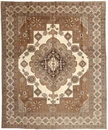 Tabriz Matto 295X368 Itämainen Käsinsolmittu Ruskea/Beige Isot (Villa, Persia/Iran)