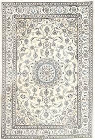 Nain Matto 196X293 Itämainen Käsinsolmittu Vaaleanharmaa/Beige (Villa, Persia/Iran)