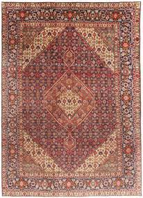 Tabriz Matto 203X291 Itämainen Käsinsolmittu Tummanpunainen/Vaaleanruskea (Villa, Persia/Iran)