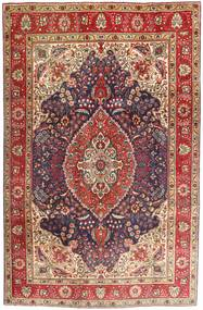 Tabriz Matto 200X302 Itämainen Käsinsolmittu Tummanpunainen/Tummanruskea (Villa, Persia/Iran)