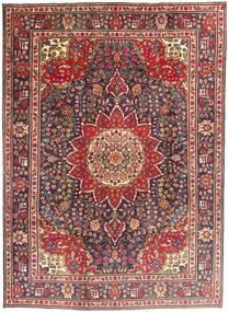 Tabriz Matto 212X292 Itämainen Käsinsolmittu Tummanpunainen/Tummanruskea (Villa, Persia/Iran)