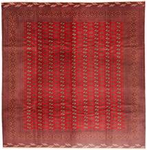Turkaman Matto 310X320 Itämainen Käsinsolmittu Neliö Tummanpunainen/Ruoste Isot (Villa, Persia/Iran)