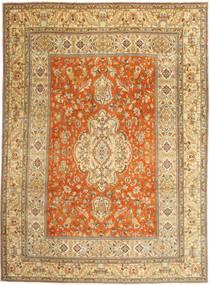 Tabriz Patina Matto 270X373 Itämainen Käsinsolmittu Tummanbeige/Vaaleanruskea Isot (Villa, Persia/Iran)