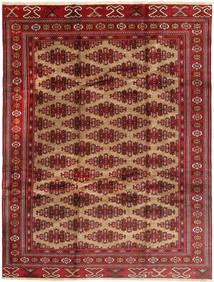 Turkaman Matto 235X315 Itämainen Käsinsolmittu Tummanpunainen/Vaaleanruskea (Villa, Persia/Iran)