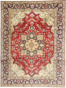 Tabriz Matto 245X340 Itämainen Käsinsolmittu Tummanpunainen/Tummanbeige (Villa, Persia/Iran)